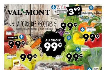 Circulaire Val-Mont - Fruiterie du  9 au 15 septembre 2021