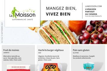 Circulaire La Moisson Supermarché Santé du  9 au 15 septembre 2021