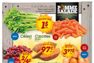 Circulaire Pomme Salade du  9 au 15 septembre 2021