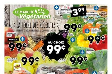 Circulaire Marché Végétarien du  9 au 15 septembre 2021