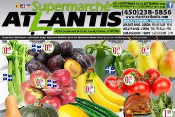 Circulaire Supermarché Atlantis du 9 au 15 Septembre 2021