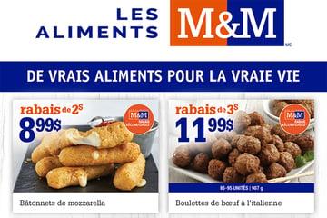 Circulaire Aliments M&M du 16 au 22 Septembre 2021