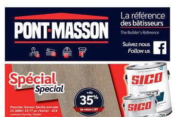 Circulaire Matériaux Pont Masson du 16 au 29 septembre 2021