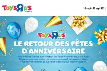 """Circulaire Toys """"R"""" us du 16 au 22 septembre 2021"""