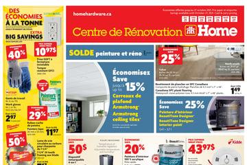Circulaire Centre de Rénovation Home Hardware du 21 au 27 Octobre 2021