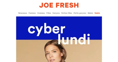 Image de la Promotion Cyber Lundi Joe Fresh