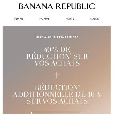 Image de la Promotion Pour vous : 40 % de réduction sur vos achats + réduction additionnelle de 10 %!