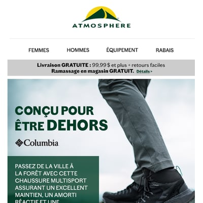 Image de la Promotion Nouvelles chaussures COLUMBIA