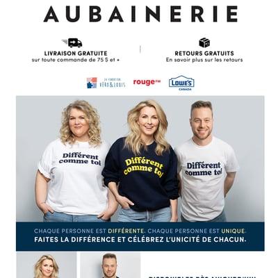 Image de la Promotion Fondation Véro & Louis : T-shirt différent comme toi