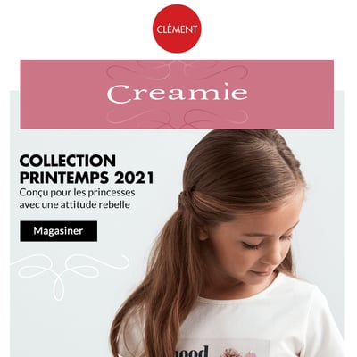 Image de la Promotion Creamie collection printemps 2021