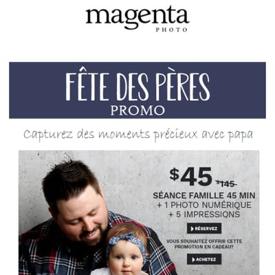 Image de la Promotion Deux Offres Exclusives pour la Fête des Pères - LE CADEAU PARFAIT!