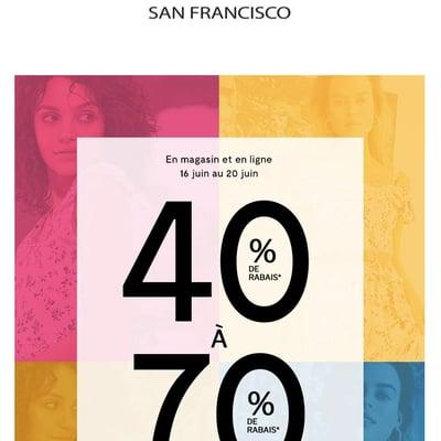 Image de la Promotion Dès Maintenant : 40% sur la Collection Printemps