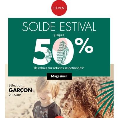 Image de la Promotion Solde Estival jusqu'à 50% de Rabais
