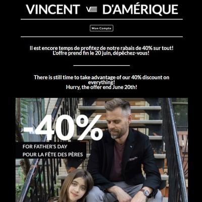 Image de la Promotion Le Rabais de 40% continue!