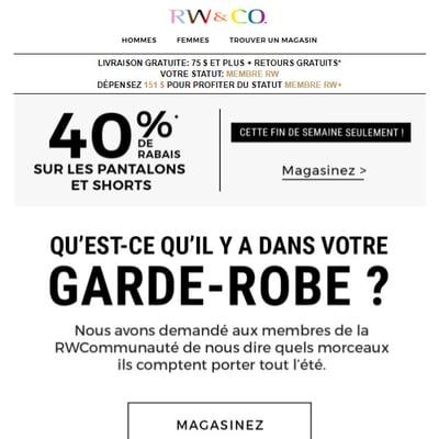 Image de la Promotion CETTE FDS ! Pantalons et les Shorts à 40 %