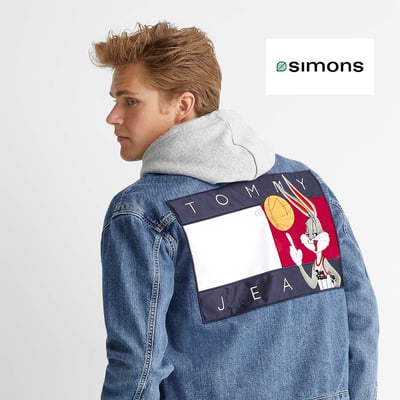 Image de la Promotion Space Jam x Tommy Jeans > La veste de jean Tune Squad