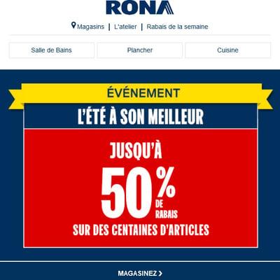 Image de la Promotion L'été à Son Meilleur - Jusqu'à 50% de Rabais chez RONA