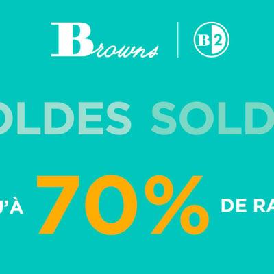 Image de la Promotion Solde - Jusqu'à 70% de Rabais chez Browns