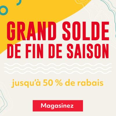 Image de la Promotion GRAND SOLDE : jusqu'à 50 % de rabais sur une tonne d'articles de plein air
