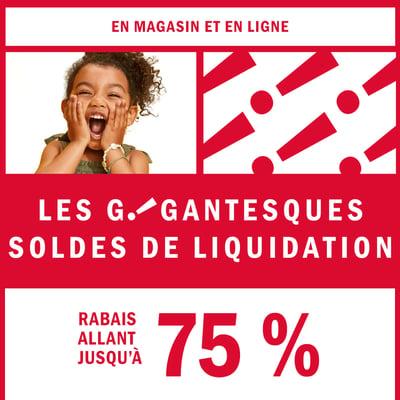 Image de la Promotion Rabais jusqu'à 75% sur les Articles en Liquidation