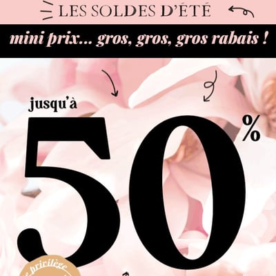 Image de la Promotion Soldes D'Été - Jusqu'à 50%