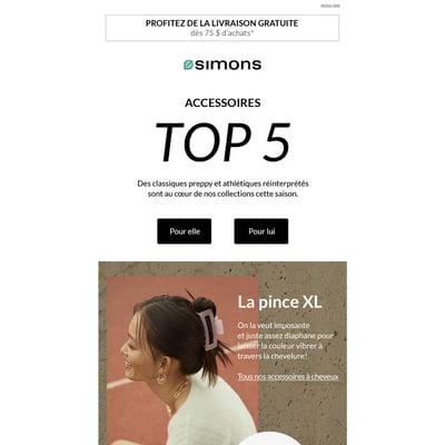 Image de la Promotion TOP 5 Accessoires pour elle et lui!