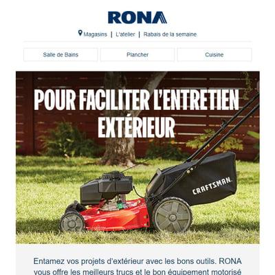 Image de la Promotion Pour faciliter l'Entretien Extérieur