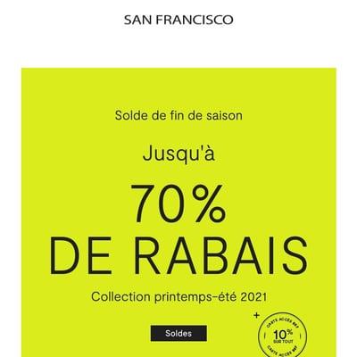 Image de la Promotion Solde de Fin de Saison : jusqu'à 70 % de Rabais