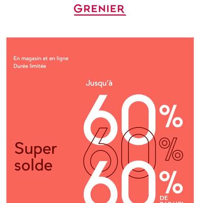 Image de la Promotion Super Solde : jusqu'à 60 % de Rabais