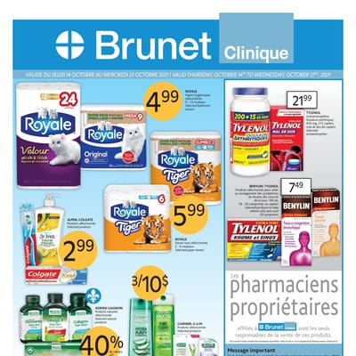 Image de la Promotion Circulaire Brunet - Clinique du 14 au 27 Octobre 2021