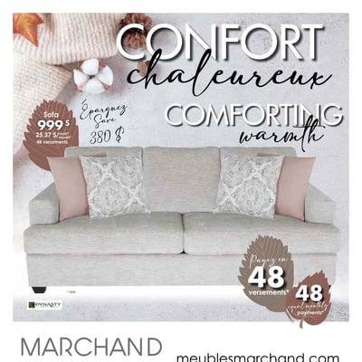 Image de la Promotion Circulaire Meubles Marchand - Confort Chaleureux du 4 au 31 Octobre 2021