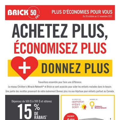 Image de la Promotion Circulaire Brick du 26 Octobre au 11 Novembre 2021